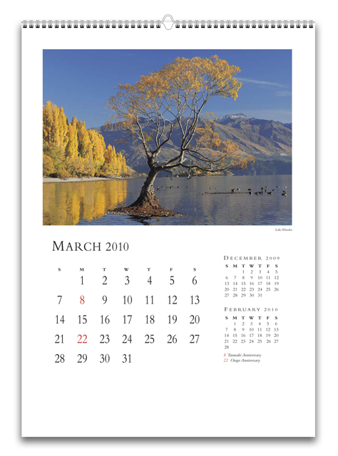 Перекидной календарь настенный с